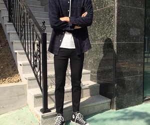 converse, korean, and outfit image