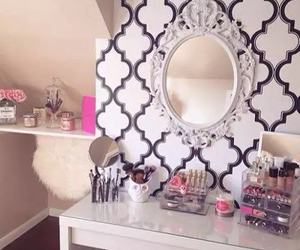 room, make up, and decor image