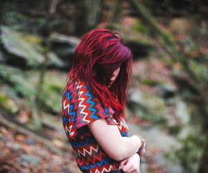 girl, red hair, and beautiful image