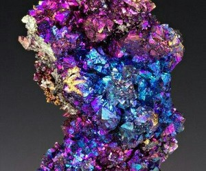 crystal, minerals, and chalcopyrite image