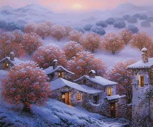 beauty, nature, and winter image
