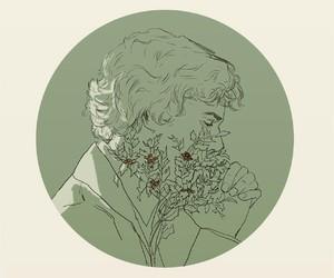 sherlock, flowers, and sherlock holmes image
