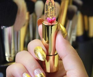 lipstick, nails, and yellow image