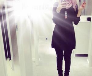 hijab and mirror image