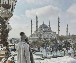 istanbul, snow, and travel image