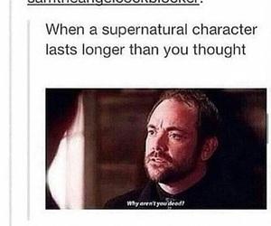 supernatural, crowley, and fandom image