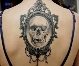 caveira, espelho, and Tattoos image