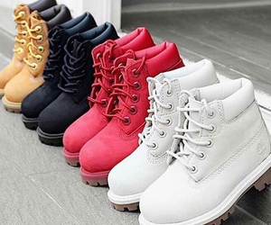 timberland, red, and shoes image