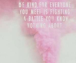 quotes, pink, and battle image