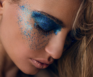 glitter, photography, and makeup image