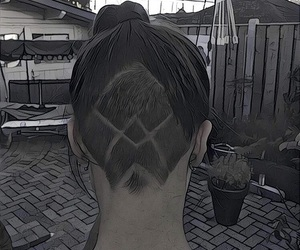 hair, undershave, and undercut image