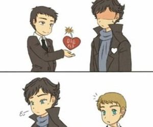 heart, johnlock, and holmes image