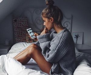 girl, fashion, and bed image