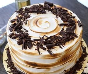 cake, chocolate, and marshmallow image