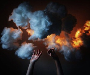 clouds, hands, and magic image