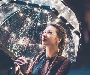 girl, light, and umbrella image