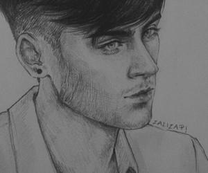 zayn malik, one direction art, and tumblr drawing boy image