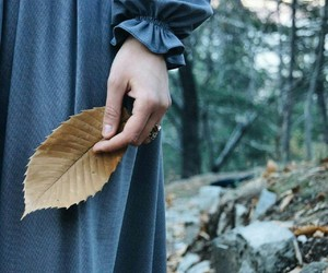 autumn, blue, and hijab image