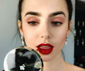 lily collins, beauty, and makeup image