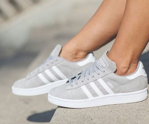shoes, adidas, and grey image