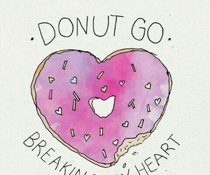 donuts, heart, and pink image