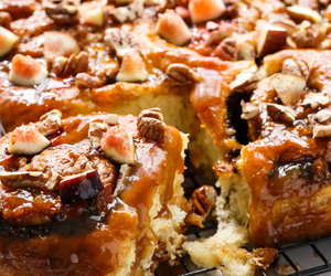 brunch, cinnamon rolls, and desserts image