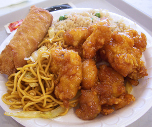food, chinese, and noodles image