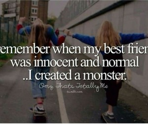 monster, normal, and best friends image