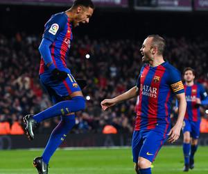 Barcelona, neymar, and iniesta image