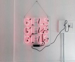 girl, pink, and light image