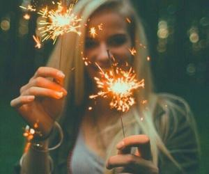 girl, tumblr, and lights image
