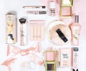 makeup, benefit, and pink image