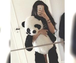 panda, girl, and بُنَاتّ image