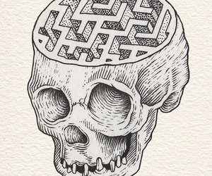 skull and drawing image