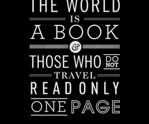 book, travel, and wanderlust image