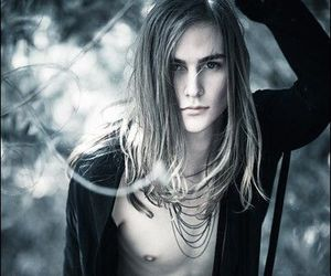 boy, long hair, and model image