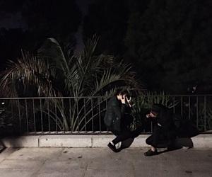 background, dark, and friendship image