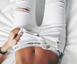 Calvin Klein, jeans, and ripped jeans image