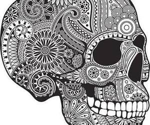 calavera, draw, and smile image