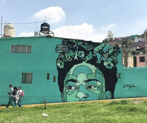 art, Frida, and street art image