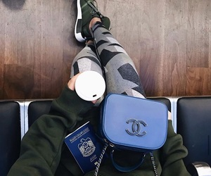airport, chanel, and coffee image