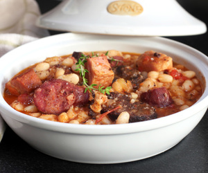 bean, sausage, and stew image