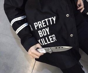 black, grunge, and boy image