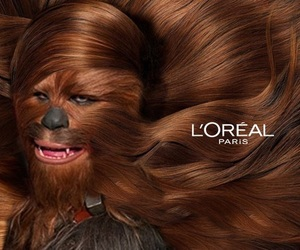 chewbacca, loreal paris, and star wars image