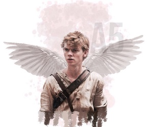 newt, maze runner, and thomas brodie-sangster image