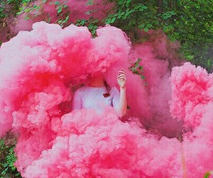 pink, smoke, and aesthetic image