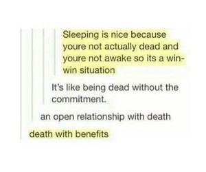 death, funny, and humor image