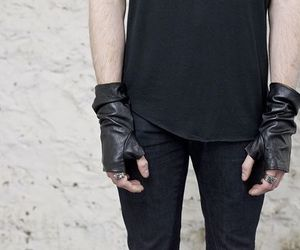 alternative, black, and gloves image