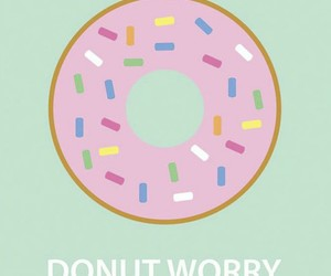 donut, pink, and wallpaper image
