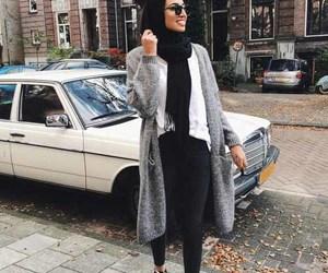 hijab, winter, and ootd image